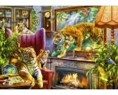 Puzzle Tygři z obrazu