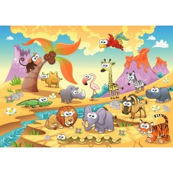 Puzzle Zvířata savany - DĚTSKÉ PUZZLE