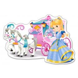 Puzzle Kočár pro princeznu - MAXI PUZZLE