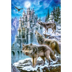 Puzzle Vlci u hradu