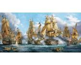 Puzzle Námořní bitva - PANORAMATICKÉ PUZZLE
