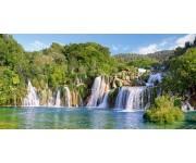 Puzzle Vodopády Krk, Chorvatsko - PANORAMATICKÉ PUZZLE