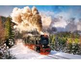 Puzzle Parní lokomotiva v zimě
