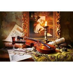 Puzzle Zátiší houslí a obrazu