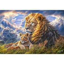 Puzzle Lev s mládětem