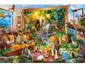 Puzzle Živý obraz - džungle