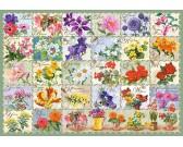 Puzzle Malované květy