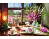 Puzzle Zátiší s růžovými květy