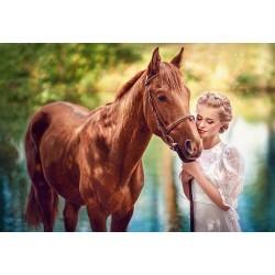 Puzzle Kráska s koněm