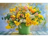 Puzzle Žlutá kytice