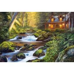 Puzzle Domek u řeky