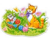Puzzle Kočičí rodinka - MAXI PUZZLE
