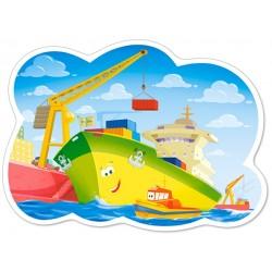Puzzle Den v přístavu - DĚTSKÉ PUZZLE