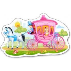 Puzzle Kočár s princeznou - DĚTSKÉ PUZZLE