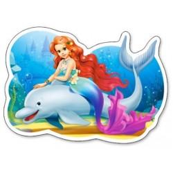 Puzzle Mořská víla a delfín - DĚTSKÉ PUZZLE