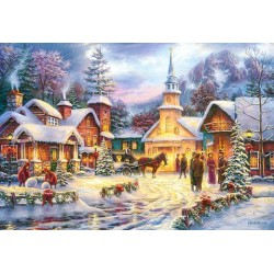 Puzzle Vánoční atmosféra