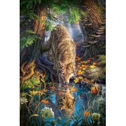 Puzzle Vlk v divočině