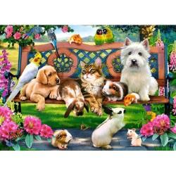 Puzzle Zvířata v parku - DĚTSKÉ PUZZLE