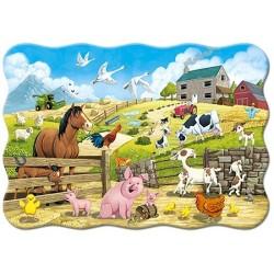 Puzzle Zvířátka na farmě - MAXI PUZZLE