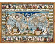 Puzzle Mapa světa z roku 1639