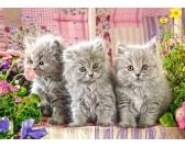 Puzzle Tři šedá koťátka - DĚTSKÉ PUZZLE