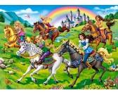 Puzzle Princezny na koních - DĚTSKÉ PUZZLE