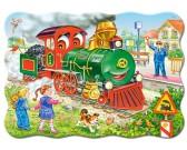 Puzzle Zelená lokomotiva - DĚTSKÉ PUZZLE