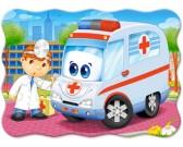 Puzzle Sanitka s doktorem - DĚTSKÉ PUZZLE