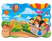 Puzzle V létajícím balóně přes čínskou zeď - DĚTSKÉ PUZZLE