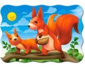 Puzzle Veverčí rodinka - DĚTSKÉ PUZZLE