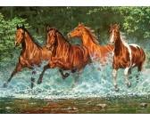 Puzzle Běžící koně v řece - DĚTSKÉ PUZZLE