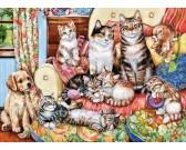Puzzle Kočičí rodinka - DĚTSKÉ PUZZLE