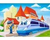 Puzzle Vláček na nádraží - MAXI PUZZLE