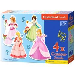 Puzzle Krásné princezny - DĚTSKÉ PUZZLE