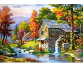 Puzzle Starý vodní mlýn