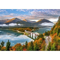 Puzzle Východ slunce nad jezerem