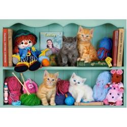 Puzzle Kočičky na policích