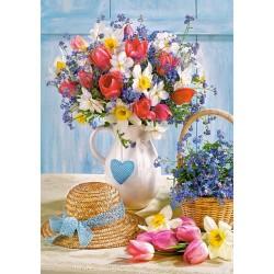 Puzzle Jarní kytice
