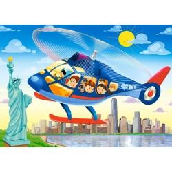 Puzzle Vrtulník v New Yorku - DĚTSKÉ PUZZLE