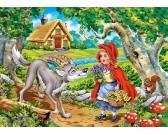 Puzzle Červená Karkulka s vlkem - DĚTSKÉ PUZZLE