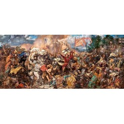 Puzzle Bitva u Grundwaldu - PANORAMATICKÉ PUZZLE