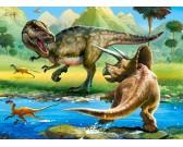 Puzzle Tyrannosaurus proti Triceratopsovi - DĚTSKÉ PUZZLE