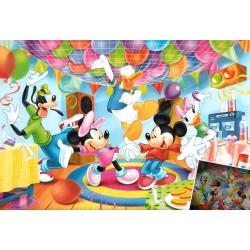 Puzzle Mickey Mouse - Narozeniny - SVÍTÍCÍ PUZZLE