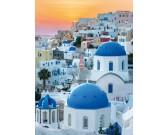 Puzzle Santorini při západu slunce