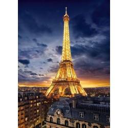 Puzzle Nasvícená Eiffelova věž
