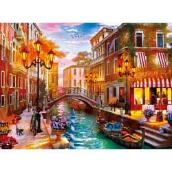 Puzzle Západ slunce v Benátkách