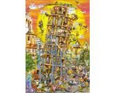 Puzzle Stavba šikmé věži v Pise