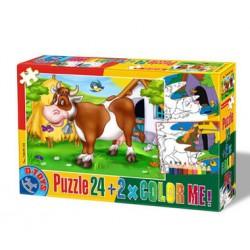 Puzzle Kráva - DĚTSKÉ PUZZLE