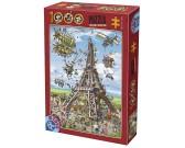 Puzzle Stavba Eiffelovky