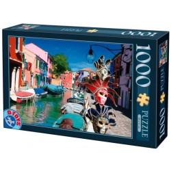 Puzzle Benátské masky